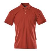 00783-260-02 Polo-Shirt mit Brusttasche - Rot