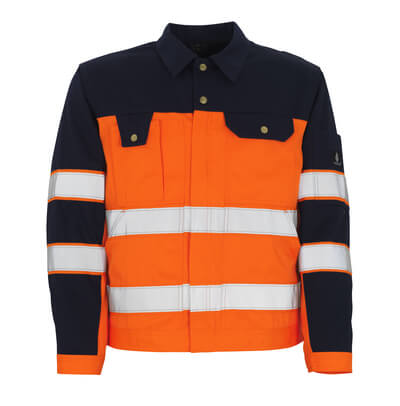 00909-860-141 Jacke - hi-vis Orange/Marine