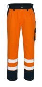 00979-860-141 Hose mit Knietaschen - hi-vis Orange/Marine