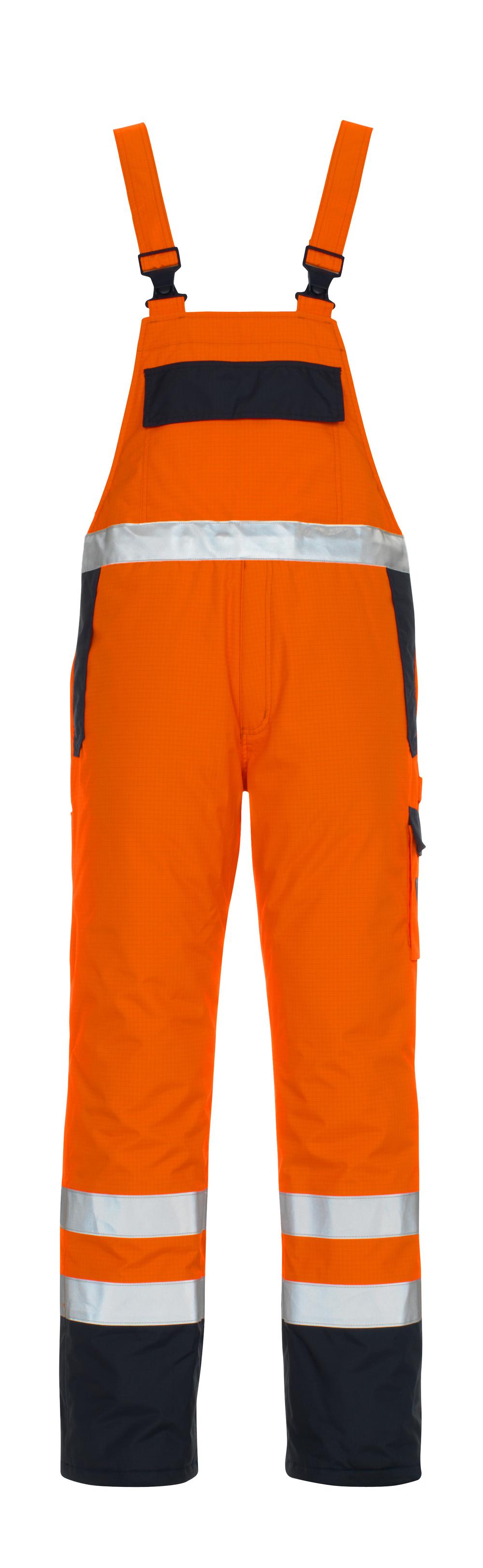 05192-064-141 Latzhose - hi-vis Orange/Marine