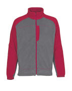 06042-137-88802 Fleecejacke - Anthrazit/Rot