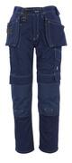 06131-630-01 Hose mit Knie- und Hängetaschen - Marine