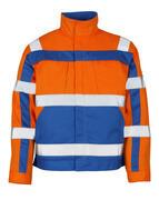 07109-860-1411 Jacke - hi-vis Orange/Kornblau
