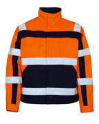 07109-860-141 Jacke - hi-vis Orange/Marine