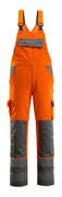 07169-860-14888 Latzhose mit Knietaschen - hi-vis Orange/Anthrazit