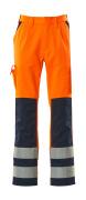 07179-860-141 Hose mit Knietaschen - hi-vis Orange/Marine