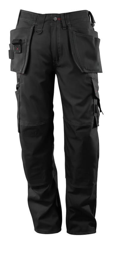 07379-154-09 Hose mit Knie- und Hängetaschen - Schwarz