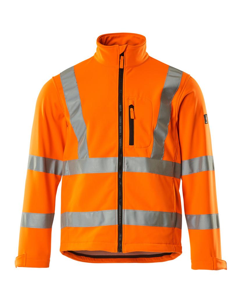 08005-159-14 Soft Shell Jacke - hi-vis Orange