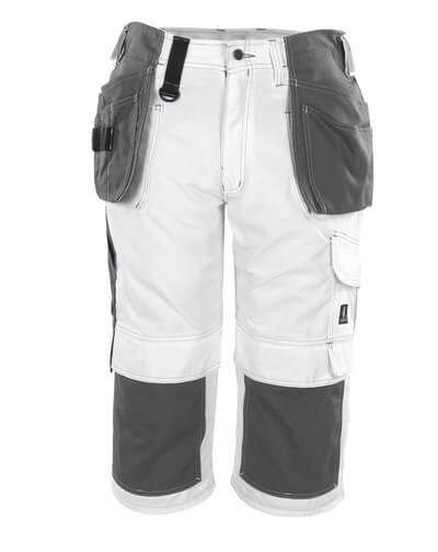 08349-154-06 Dreiviertel-Hose mit Knie- und Hängetaschen - Weiß