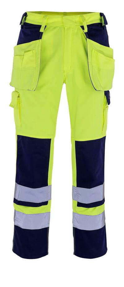 09131-470-171 Hose mit Knie- und Hängetaschen - hi-vis Gelb/Marine
