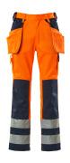 09131-860-141 Hose mit Knie- und Hängetaschen - hi-vis Orange/Marine