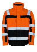 09335-880-141 Winterjacke - hi-vis Orange/Marine