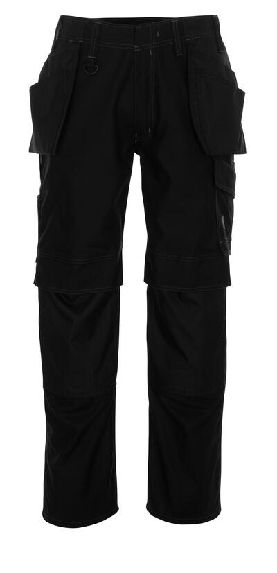 10131-154-010 Hose mit Knie- und Hängetaschen - Schwarzblau
