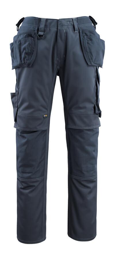 14131-203-010 Hose mit Knie- und Hängetaschen - Schwarzblau