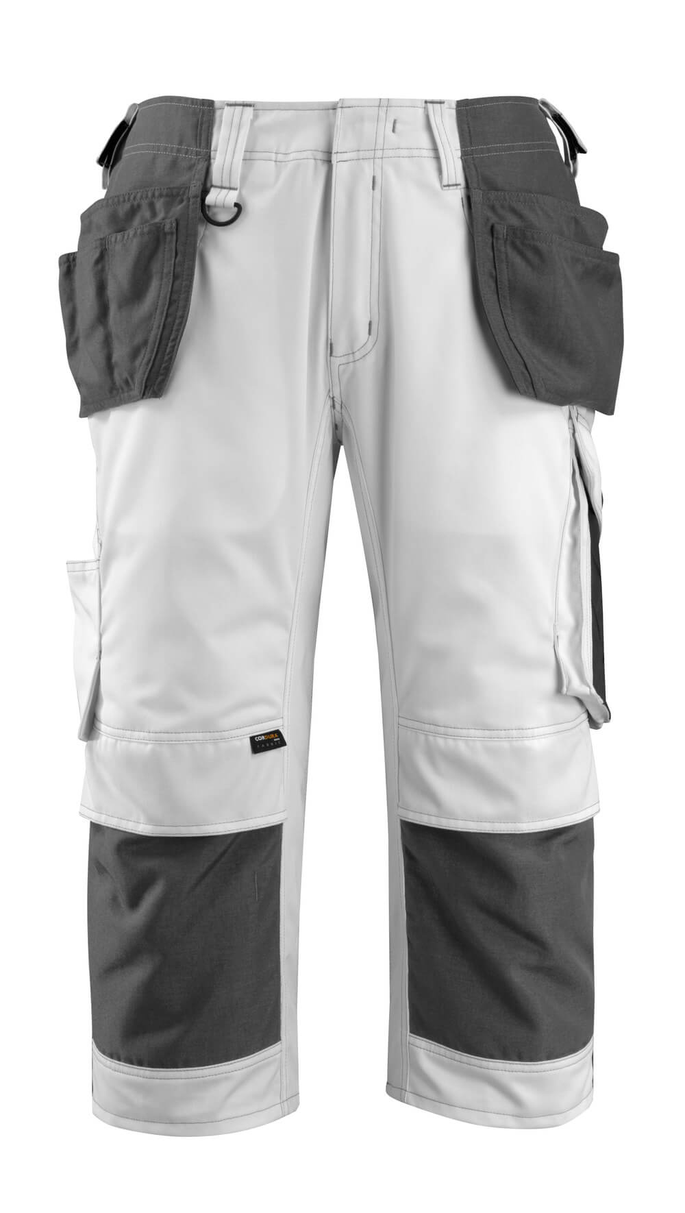 14349-442-0618 Dreiviertel-Hose mit Hängetaschen - Weiß/Dunkelanthrazit