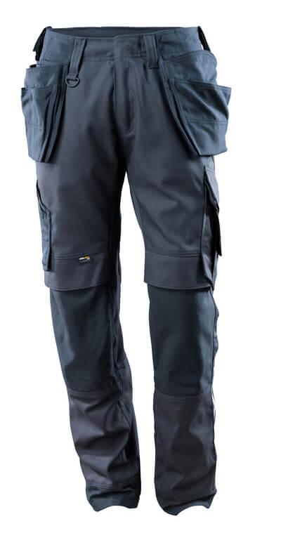 15031-010-010 Hose mit Knie- und Hängetaschen - Schwarzblau