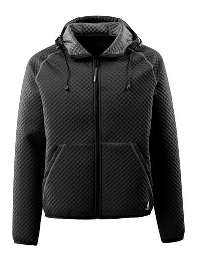 15146-267-09 Kapuzensweatshirt mit Reißverschluss - Schwarz