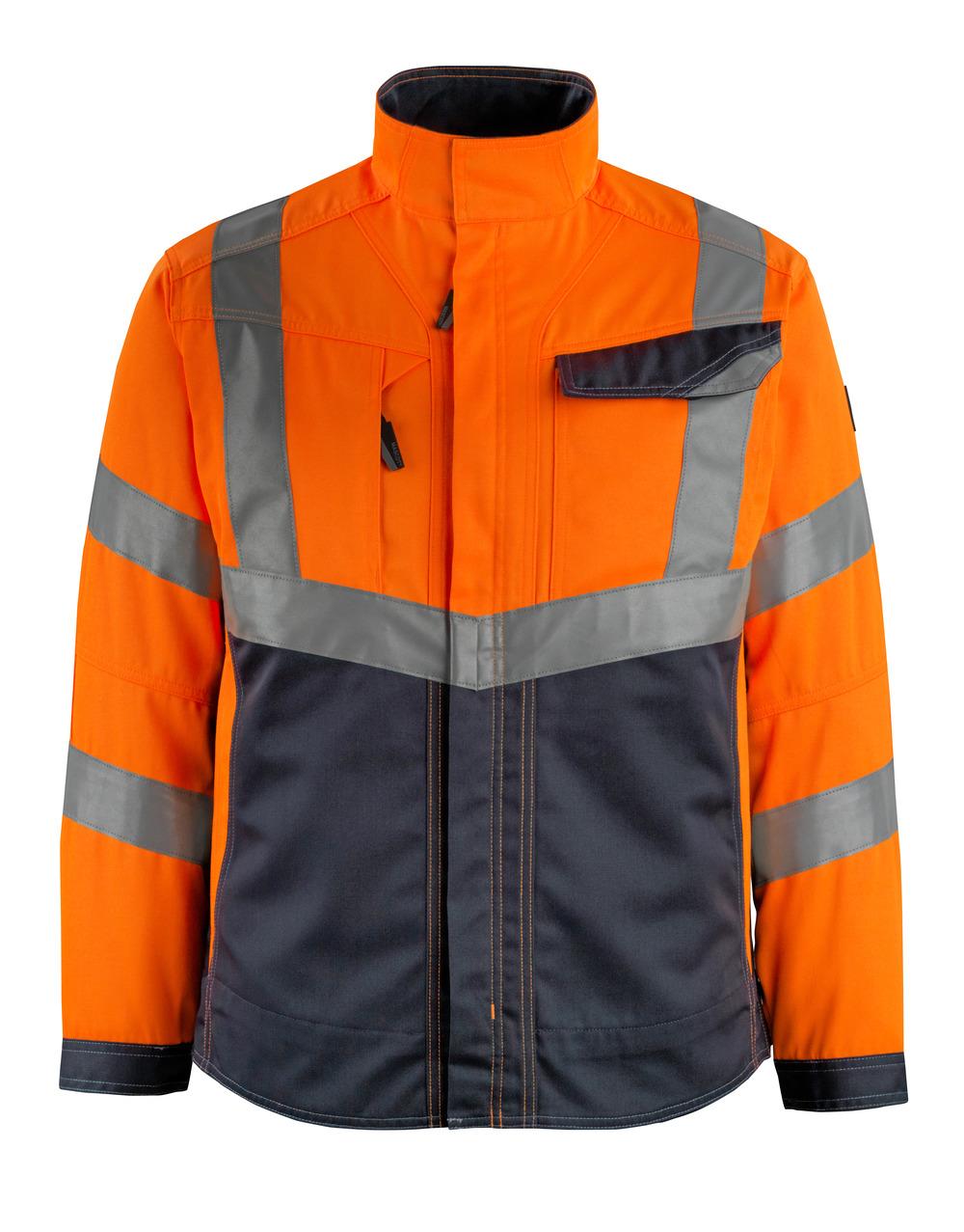 15509-860-14010 Jacke - hi-vis Orange/Schwarzblau