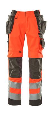 15531-860-14010 Hose mit Knie- und Hängetaschen - hi-vis Orange/Schwarzblau