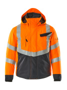 15535-231-14010 Winterjacke - hi-vis Orange/Schwarzblau