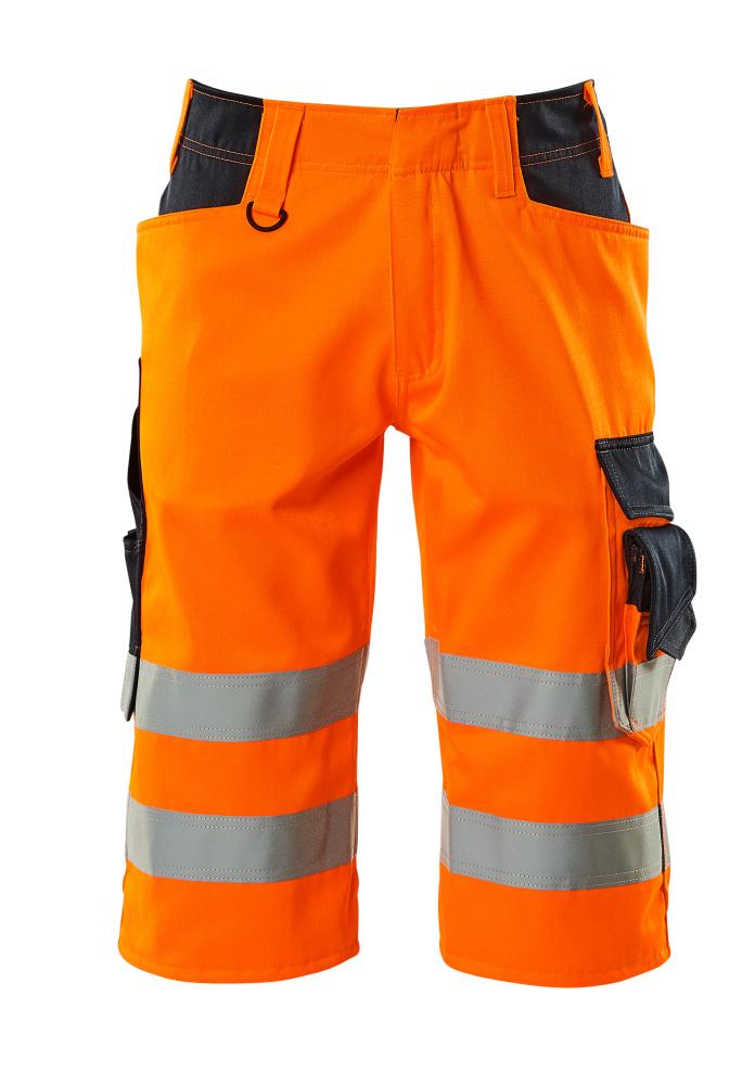 15549-860-14010 Dreiviertel-Hose - hi-vis Orange/Schwarzblau