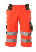 15549-860-22218 Shorts, lang - hi-vis Rot/Dunkelanthrazit