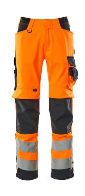 15579-860-14010 Hose mit Knietaschen - hi-vis Orange/Schwarzblau