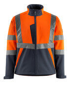 15902-253-14010 Soft Shell Jacke - hi-vis Orange/Schwarzblau