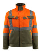 15909-948-1433 Jacke - hi-vis Orange/Moosgrün