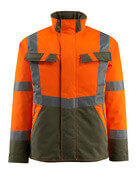 15935-126-1433 Winterjacke - hi-vis Orange/Moosgrün