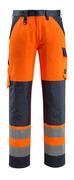 15979-948-14010 Hose mit Knietaschen - hi-vis Orange/Schwarzblau