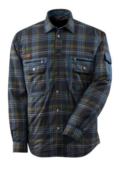 17004-991-01085 Hemd mit Futter - Schwarzblau/Steinblau