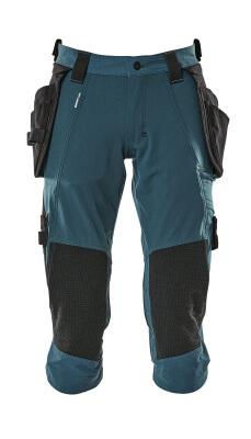 17049-311-010 Dreiviertel-Hose mit Knie- und Hängetaschen - Schwarzblau