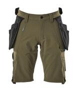 17149-311-33 Shorts mit Hängetaschen - Moosgrün
