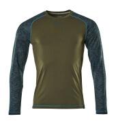 17281-944-33 T-Shirt, Langarm - Moosgrün