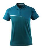 17283-945-44 Polo-Shirt mit Brusttasche - Dunkelpetroleum