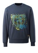 17284-280-66 Sweatshirt - Gewaschener dunkelblauer Denim
