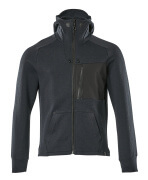 17384-319-01009 Kapuzensweatshirt mit Reißverschluss - Schwarzblau/Schwarz