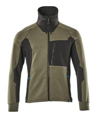 17484-319-09 Sweatshirt mit Reißverschluss - Schwarz
