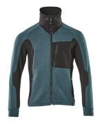 17484-319-4409 Sweatshirt mit Reißverschluss - Dunkelpetroleum/Schwarz