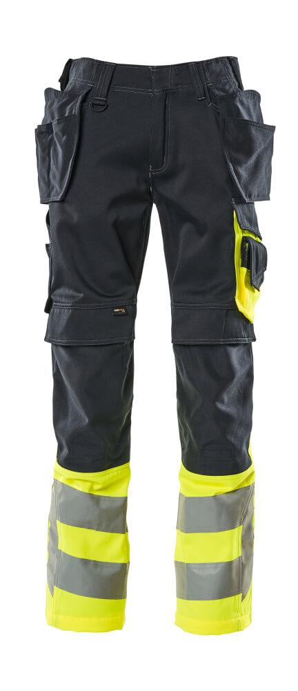 17531-860-01017 Hose mit Hängetaschen - Schwarzblau/hi-vis Gelb