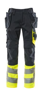 17531-860-01017 Hose mit Knie- und Hängetaschen - Schwarzblau/hi-vis Gelb
