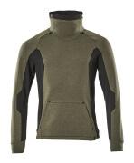 17584-319-3309 Sweatshirt - Moosgrün/Schwarz