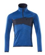18003-316-91010 Fleecepullover mit kurzem Reißverschluss - Azurblau/Schwarzblau