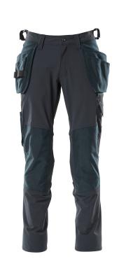 18031-311-010 Hose mit Knie- und Hängetaschen - Schwarzblau
