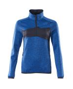 18053-316-91010 Fleecepullover mit kurzem Reißverschluss - Azurblau/Schwarzblau