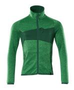 18103-316-33303 Fleecepullover mit Reißverschluss - Grasgrün/Grün
