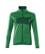 18153-316-33303 Fleecepullover mit Reißverschluss - Grasgrün/Grün