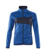 18153-316-91010 Fleecepullover mit Reißverschluss - Azurblau/Schwarzblau