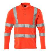 18283-995-222 Polo-Shirt, Langarm - hi-vis Rot